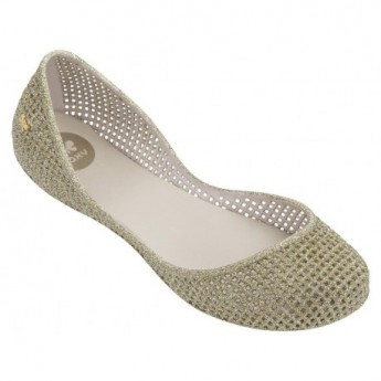AMORA beige flat closed ballet flats for woman
