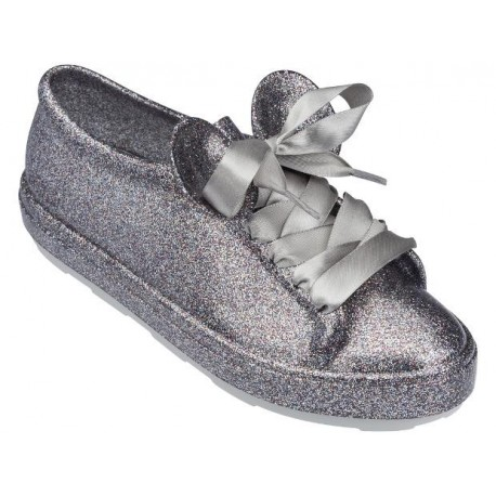 BE + DISNEY disney silver flat closed sneakers for woman