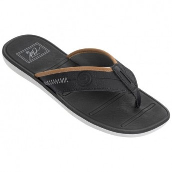 MALI VIII black and grey flat finger flip flops for man