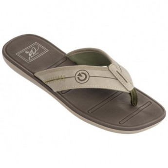 MALI VIII beige and brown flat finger flip flops for man