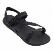 RX II black flat roman sandals for woman
