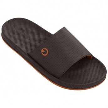 SIENA brown and orange flat flip flops for man
