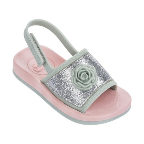 SENSE IV green and pink flat finger sandals for child