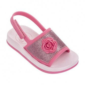 SENSE IV pink flat open sandals for child