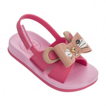 SENSE III pink flat open sandals for child