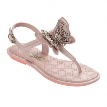 SENSE IV nude flat finger sandals for child