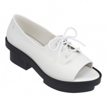 WANNA BE RIO white platforms closed ballet flats for woman
