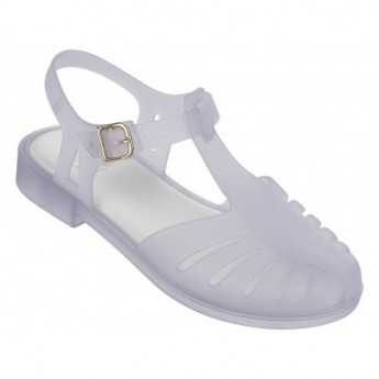 ARANHA 1979 white flat open sandals for girl