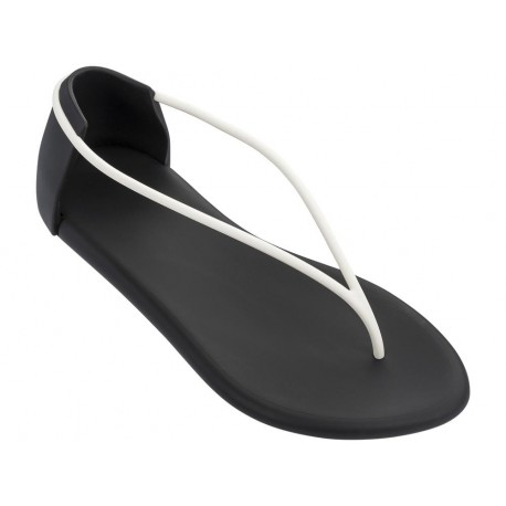 TING N II philippe starck black and white flat finger sandals for woman