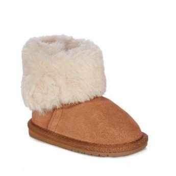 APSLEY brown flat closed boots for baby