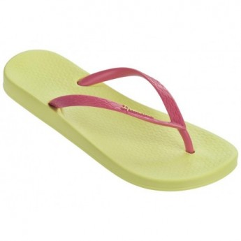 ANATOMICA TAN pink and yellow flat finger flip flops for woman