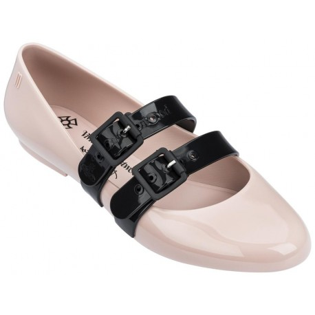 DOLL vivienne westwood black and pink flat closed ballet flats for woman