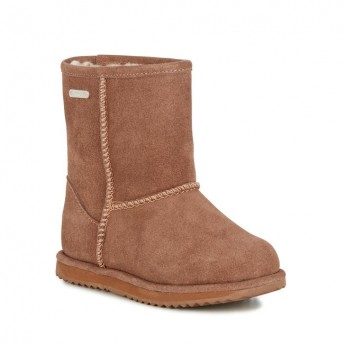 BRUMBY LO brown flat closed boots for child
