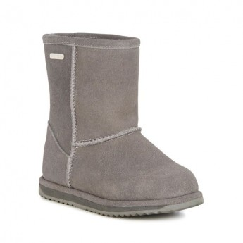 BRUMBY LO grey flat closed boots for child
