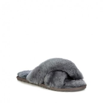 MAYBERRY grey flat slippers for woman