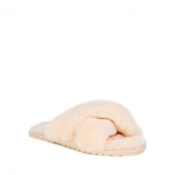 MAYBERRY nude flat slippers for woman
