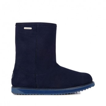PATERSON CLASSIC LO navy blue flat closed boots for woman