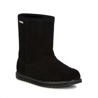 PATERSON CLASSIC LO black flat closed boots for woman