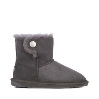 ORE grey flat closed boots for woman