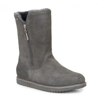 GRAVELLY grey flat closed boots for woman