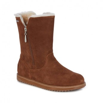 GRAVELLY brown flat closed boots for woman