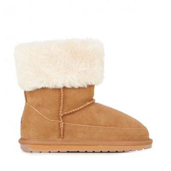 ARDLE brown flat closed boots for child