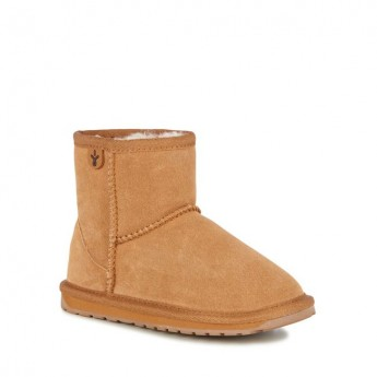 WALLABY MINI TEENS brown flat closed boots for child