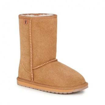 WALLABY LO brown flat closed boots for child
