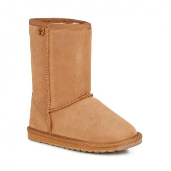 WALLABY LO TEENS brown flat closed boots for child