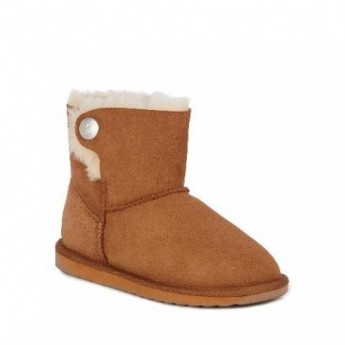 ORE brown flat closed boots for woman