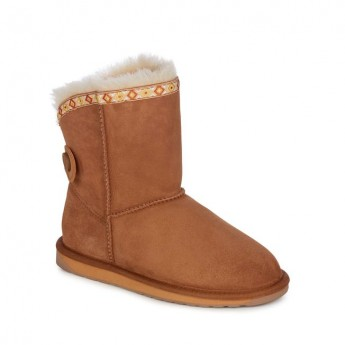 REDAN brown flat closed boots for woman