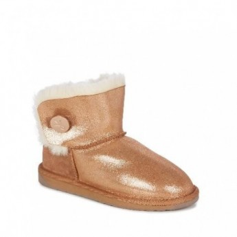 ORE gold flat closed boots for woman