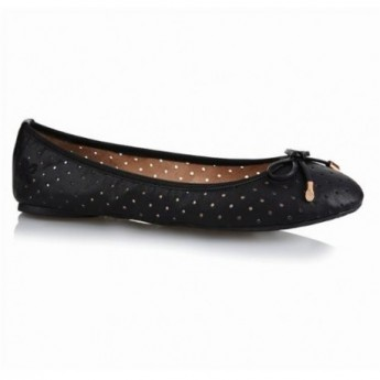 GRACE black flat ballet flats for woman