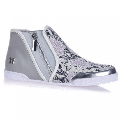 ALEXIS grey animal print flat sneaker sneakers for woman