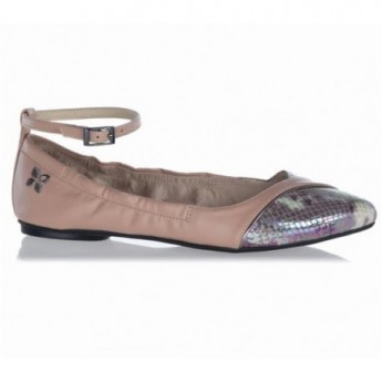 RILEY brown flat ballet flats for woman