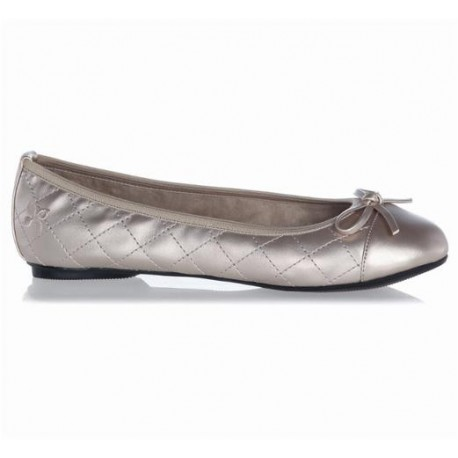OLIVIA gold and pink flat ballet flats for woman