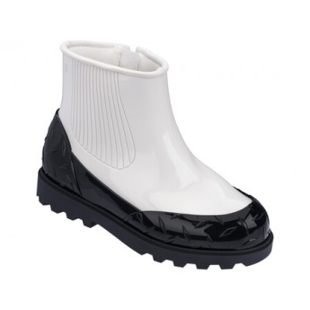 FUSION black and white under closed boots for woman
