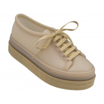 BE II beige platforms closed sneakers for woman