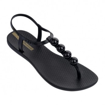 CHARM VI cristina pedroche black flat finger sandals for woman