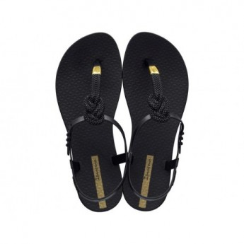 CLASS GLAM II black flat finger sandals for woman