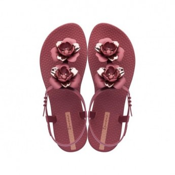 FLORAL cristina pedroche pink flat finger sandals for woman