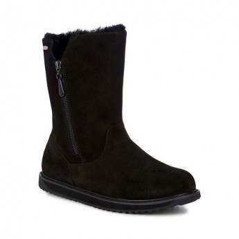 GRAVELLY black flat closed boots for woman