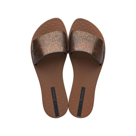 LIVIA II black and brown flat finger flip flops for woman