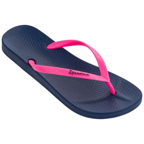 ANATOMICA TAN navy blue and pink flat finger flip flops for woman