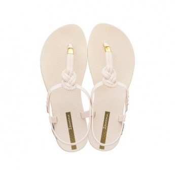 CLASS GLAM II cristina pedroche beige flat finger sandals for woman