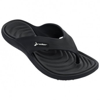 CAPE XII black flat finger flip flops for man