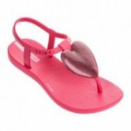 CHARM III pink flat finger sandals for child