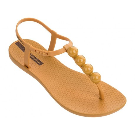 CHARM VI cristina pedroche yellow flat finger sandals for woman