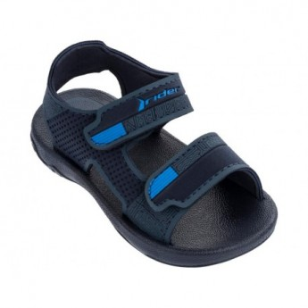 BASIC SANDAL III blue flat roman sandals for baby