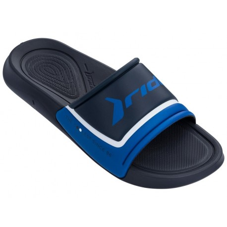INFINITY LIGHT blue flat shovel flip flops for man